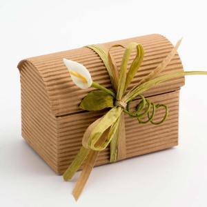 Kraft Corrugated Trunk Favour Box - Small