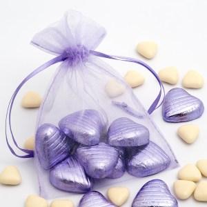 Medium Lilac Organza Favour Bag