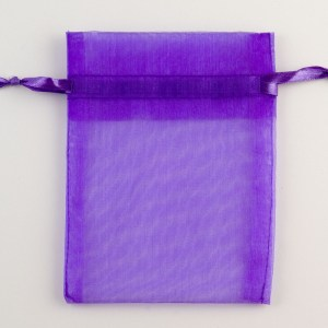 Medium Purple Organza Favour Bag