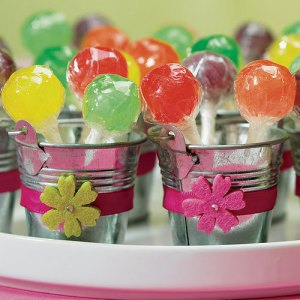 Mini Silver Metal Favour Pails x 12