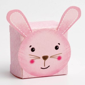 Pink Rabbit Favour Box - Small