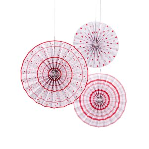 Pink Stripe & Polka Dot Pinwheel Decorations
