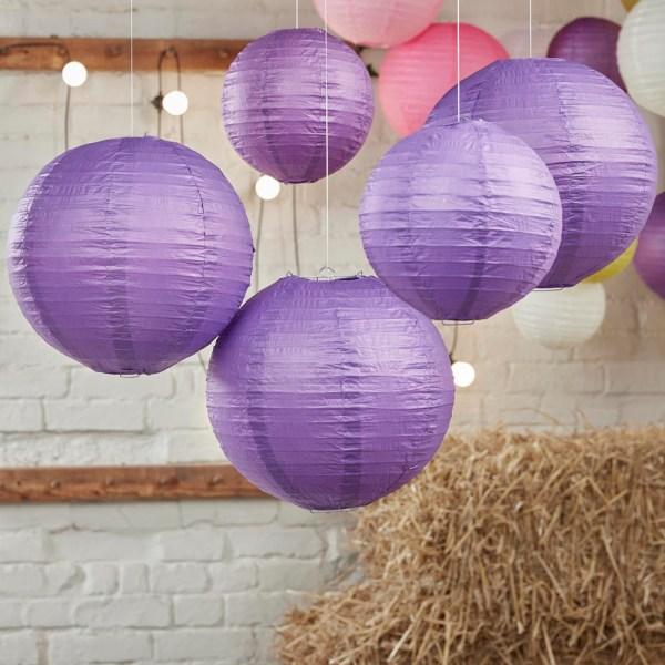 Purple Paper Lantern Decorations