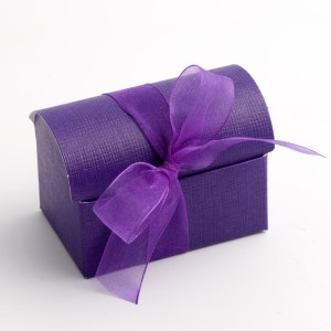 Purple Silk Cofanetto Favour Box