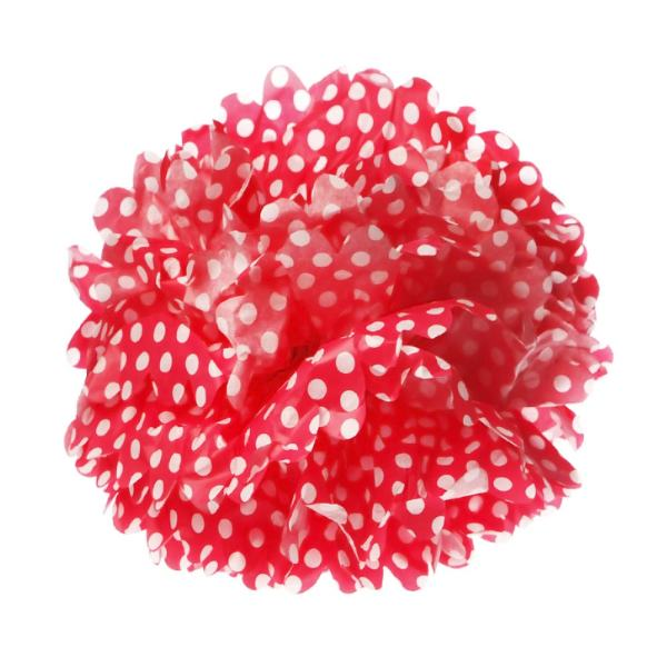 Red Polka Dot Pom Pom