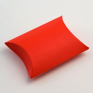 Red Silk Pillow Favour Box