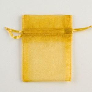 Small Gold Organza Favour Bag