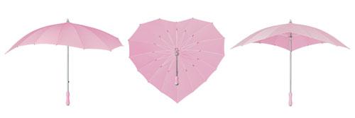Heart Umbrellas - Soft Pink
