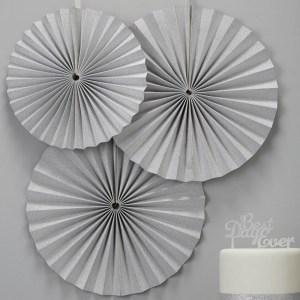 Sparkly Silver Fan Pinwheel