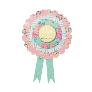 Vintage Mum to Be Rosette Badge