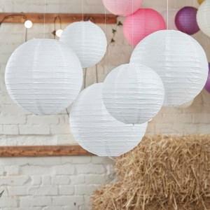 White Paper Lantern Decorations