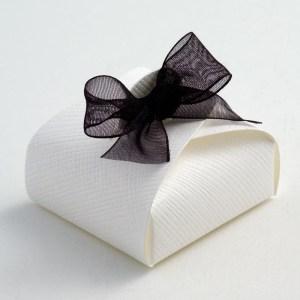 White Silk Mini Astuccio Favour Box