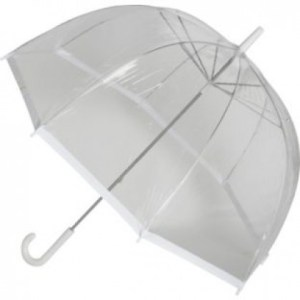 Clear Dome White Trim Umbrella