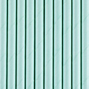 Solid Sky Blue Paper Straws