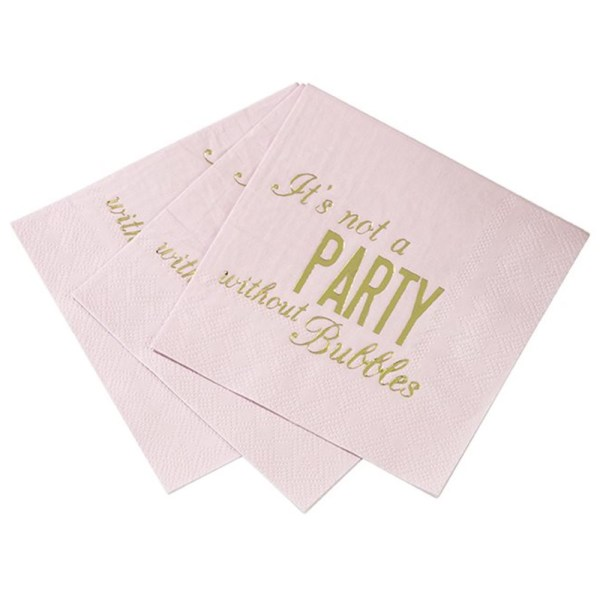 Pink & Gold Party Napkins