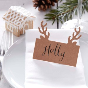 Stag Head Shaped Place Card