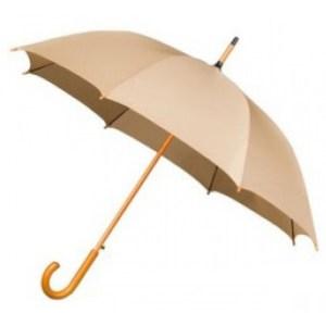 Wooden Stick Umbrella - Beige