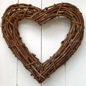 Large Natural Rattan Heart