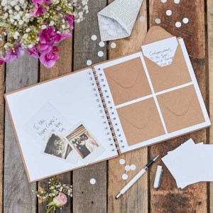 Kraft Envelope Guest Book