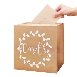 Kraft Wedding Post Box