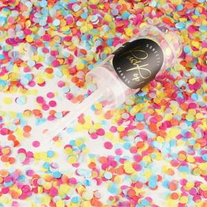 Multi Coloured Confetti Push Pops x 12
