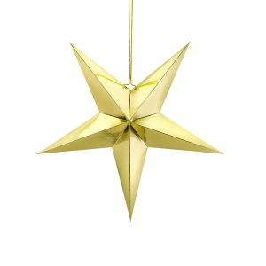Medium Gold Paper Star 45cm