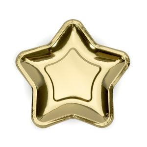 Metallic Gold Star Plates