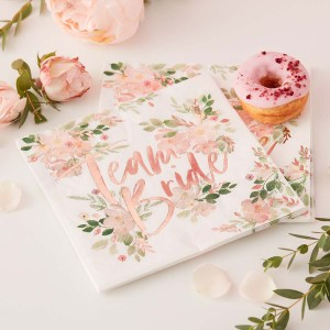Floral Team Bride Floral Paper Napkins