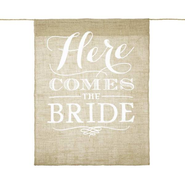 'Here Comes The Bride' Banner