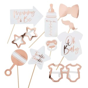 Rose Gold Twinkle Baby Shower Props