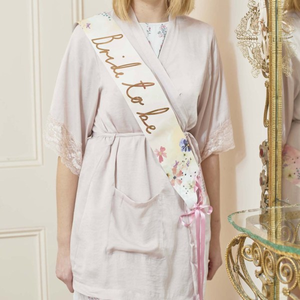 Blossom Bride to Be Sash