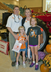 Dean Kopsell and his wife, Jennifer, along with their older daughter, Allison, and younger daughter, Caroline, at a recent CASNR event.