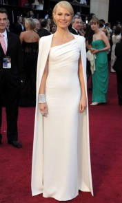 Super on the 2012 Oscars Red Carpet in Calvin Klein Dress and Cape