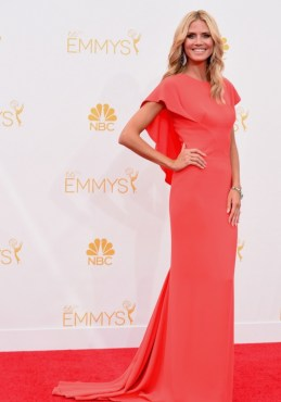 Heidi Klum Zac Posen Emmys 2014