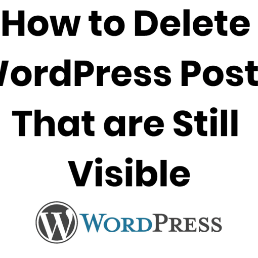 delete visible deleted wordpress posts