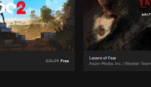 Layers of Fear and Q.U.B.E. 2 are free on Epic Games Store until October 31st, 2019
