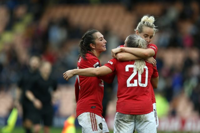 Manchester United win battle of promoted clubs at The Hive