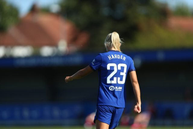 Harder hits hat-trick as Chelsea cruise into Conti Cup final with six-goal rout of Hammers