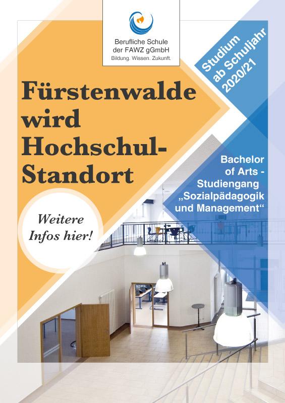 Berufliche Schule FAWZ gGmbH_Fürstenwalde wird Hochschul-Standort
