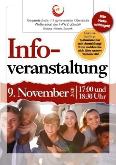 Gesamtschule Woltersdorf_Infoveranstaltung zum Schuljahr 2021-22 am 9. November 2020