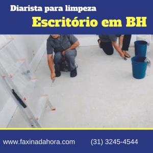 Diarista para limpeza de escritório Belo Horizonte