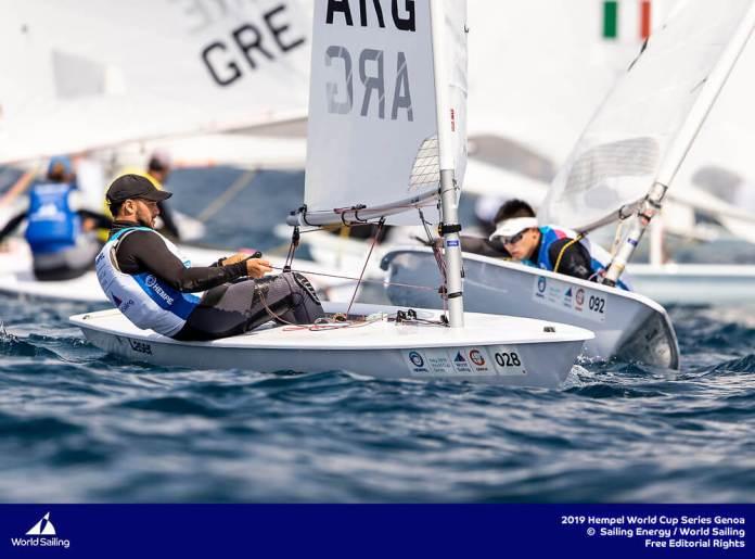Agustin Vidal - Laser Argentino navegando - Hempel -Genoa 2019