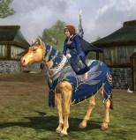 Festliches Himmelblaues Pony