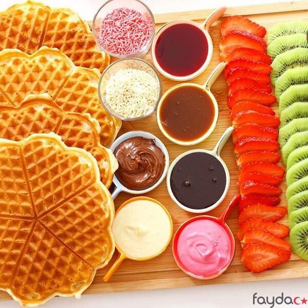waffle tarifi için gerekli malzemeler