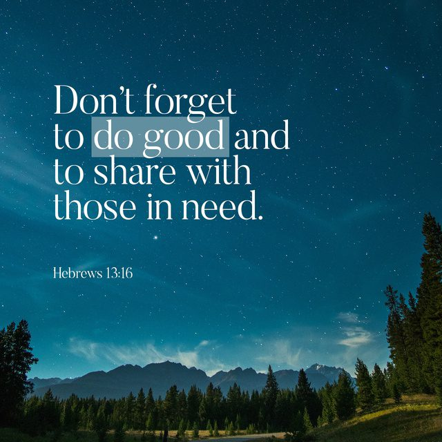 Do good. Share.