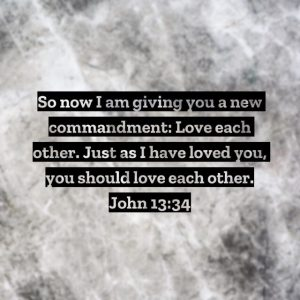 Just love one another, will ya?