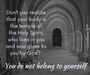 You don't belong to yourself.