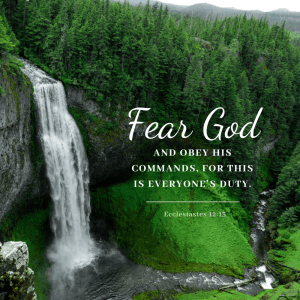 Am I supposed to be afraid of God?