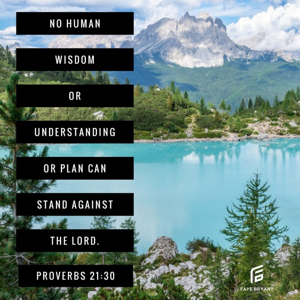 NOTHING stands against the Lord!