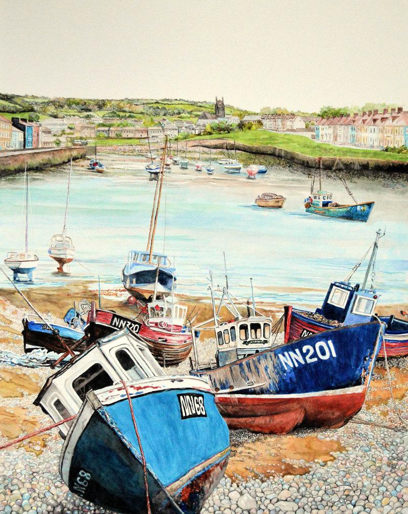 'Low tide' by Somerset artist, Faye Edmondson - watercolours on paper